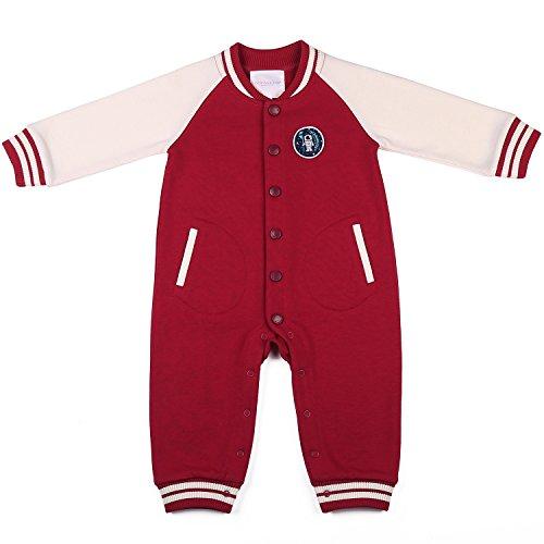 oceankids-tuta-a-coste-stile-casacca-rosso-da-bambino-e-bambina-misura-9-12-mesi