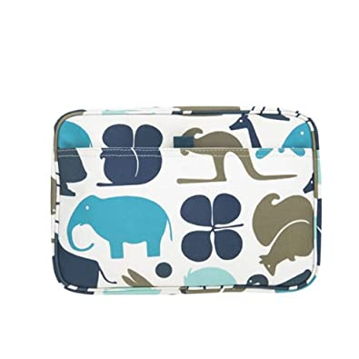 DwellStudio Gio Aqua Cosmetic Bag - Small (8W x 5.25H x 2.5D)