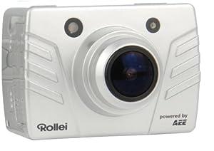 Rollei Bullet 4S Full-HD Camcorder (8 Megapixel, 3,5 cm (1,4 Zoll) TFT-Display, 175 Grad Weitwinkel-Objektiv, HDMI, USB) inkl. 4GB SD-Kargte, Unterwassergehäuse silber