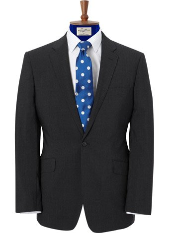 Austin Reed CUT Grey Travel Suit LONG MENS 42
