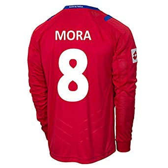 Buy Lotto MORA #8 Costa Rica Home Jersey World Cup 2014 (Long Sleeve) by Lotto