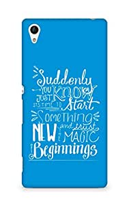 AMEZ start something new and the magic begins Back Cover For Sony Xperia Z4