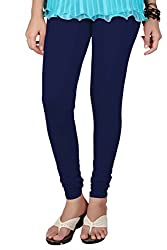 Heart and arrow Women's Cotton Legging(SK_1015_Navy Blue_Free Size)