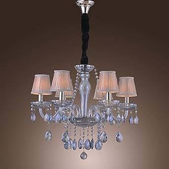 klassische kronleuchter mit 6 leuchten kristall anh nger 6. Black Bedroom Furniture Sets. Home Design Ideas