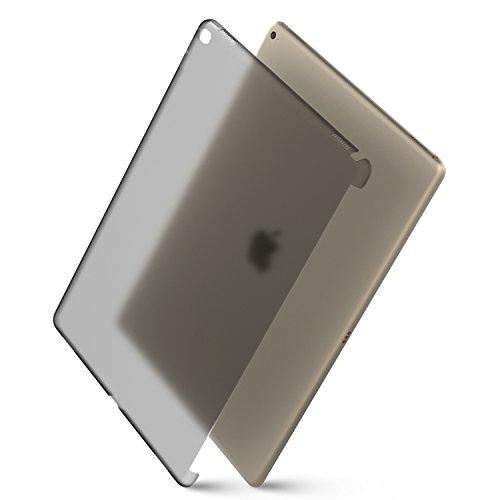 MoKo Apple iPad Pro Case - Unità Sola di Protettore Semi-trasparente Policarbonato Duro per iPad Pro 12.9 inches iOS 9 2015 Release Tablet, NERO (Compatibile con iPad Pro Tastiera Ufficiale)