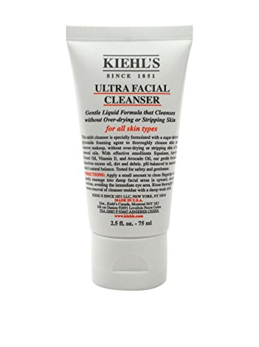 Kiehl's discount duty free Kiehl's Ultra Facial All Skin Types Cleanser for Unisex, 2.5 Ounce