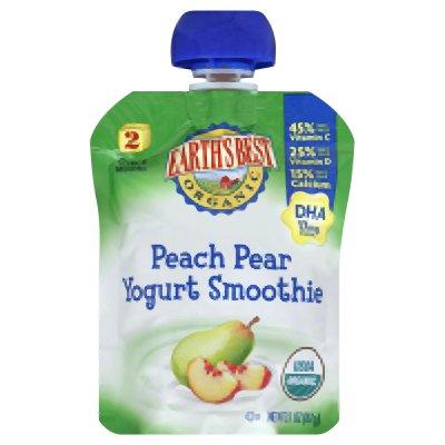 Yogurt Smoothie, 95% Organic, Peach Pear, 3.1 Oz (Pack Of 12 ) front-229466