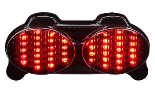 1998-2005 Kawasaki Ninja Zr7(S) Zx-6R Zx-9R Zzr600 Integrated Sequential Led Tail Lights Smoke Lens