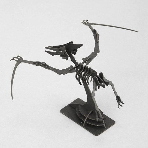 3Dペーパーパズル 恐竜 ウラノ プテラノドン 黒