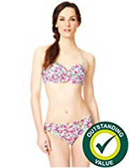 Ditsy Floral Underwired Twisted Bandeau Bikini Top