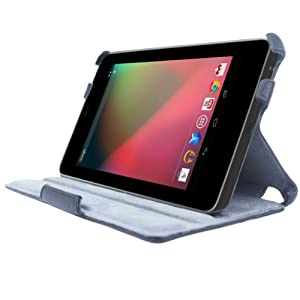 Acase Folio Nexus 7 Case / Cover with Built-in Stand (Black)