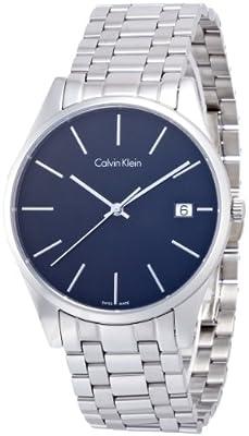 Calvin Klein K4N21141 Mens Time Black Silver Watch