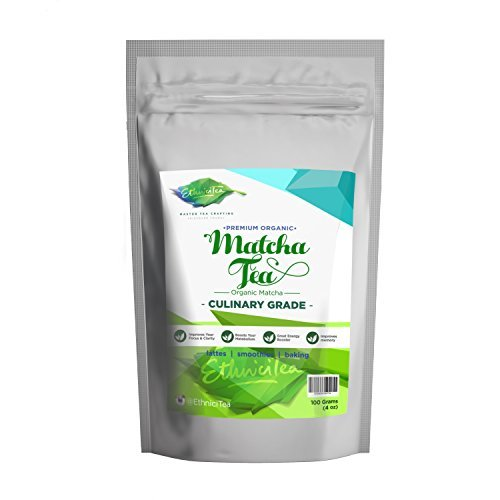 *Flash Sale* Matcha Green Tea Powder 100 grams [4 oz] USDA Organic Premium Culinary Grade 137 Antioxidants Best for Lattes Smoothies baking Coffee Substitute Metabolism booster