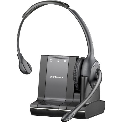 "Plantronics W710. M Over. The. Head, Monoaural (Microsoft) . Mono . Wireless . Dect . 350 Ft . Over. The. Head . Monaural . Supra. Aural . Noise Cancelling Microphone ""Product Type: Audio Electronics/Headsets/Earsets"""