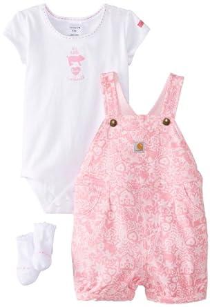 Amazon Carhartt Baby Girls Infant 3 Piece Gift Set
