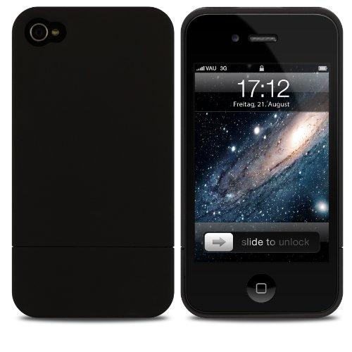 vau-Snap-Case-Slider-matte-black-zweigeteiltes-Hard-Case-fr-Apple-iPhone-4S-4