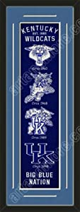Heritage Banner Of Kentucky Wildcats With Team Color Double Matting-Framed Awesome... by Art and More, Davenport, IA