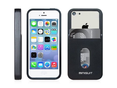 Minisuit TPU Case for iPhone 5C Credit Card Holder