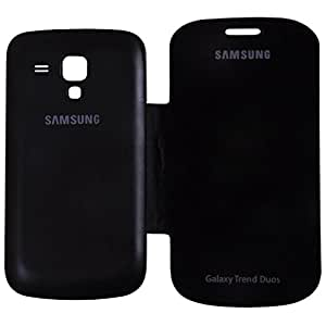 Generic Flip Cover for Samsung Galaxy Trend Duos- Black