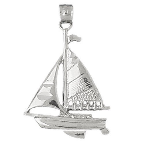 Cleversilver'S Sterling Silver Pendant Sailboat