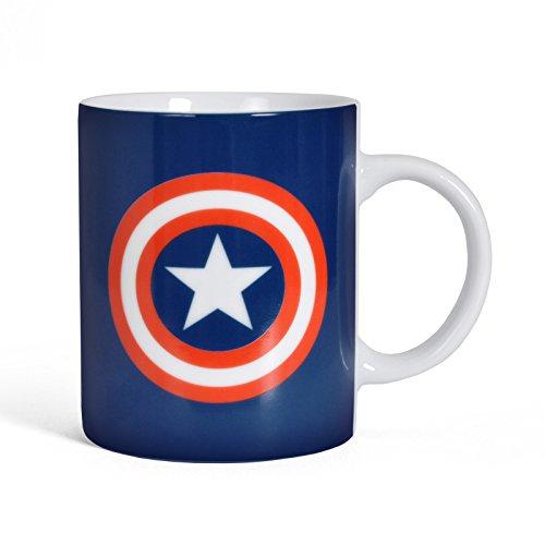 Original Marvel Comics The Avengers Captain America Logo tazza da caffè tazza in ceramica blu