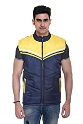 Sleeveless Quilted Jacket for Men by COLORS & BLENDS - Navy - M size