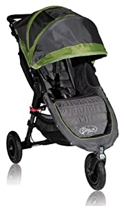 Baby Jogger City Mini GT Single Stroller, Shadow/Green