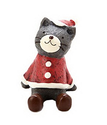 Christmas Themed Animal Ornaments Resin Look Up to the Sky--Cat