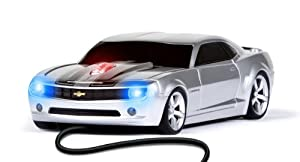 Wired Mouse - Camaro Silver with Black Stripes