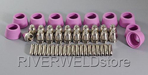 SG-55-AG-60-Plasma-Schneidbrenner-Verbrauchsmaterialien-Zubehr-Plasma-Schneiddse-Keramikkappen-60Amp-50pcs
