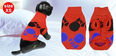 Winter Turtleneck Knitted Chihuaha Dog Sweater Apparel Clothing 3 Colors XS M