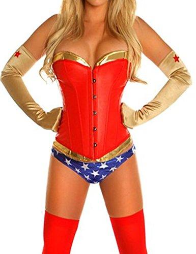 KuSen-Sexy-Wonderwoman-Superhero-Fancy-lingerie-Corset-Costume-Hen-Party-Outfit