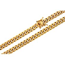 10K Yellow Gold Solid Miami Cuban Link Chain Necklace 6MM 30 Inches