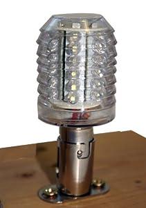 36 LED Superflux Wasserfest (IP65) für BA-15D Sockel. Energiespar Lampe für Boot, Schiff Marine Beleuchtung Positionsleuchten 80LM from Startechnik