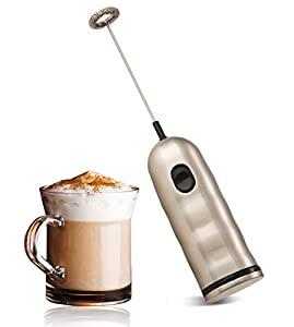 Café Luxe Stainless Steel Milk Frothing Wand - the Best Milk Frother and Foam Maker for Delicious Homemade Latte, Coffee Drinks, and more -- FREE Recipe eBook!