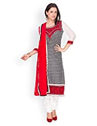 EQ Women Pure Cotton Black Color Salwar Suit. - B00X7R8F64