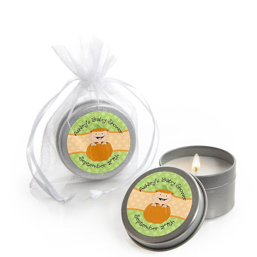 Little Pumpkin Caucasian - Personalized Baby Shower Candle Tin Favors front-153278