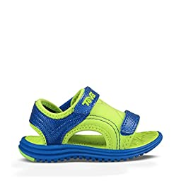 Teva Psyclone 6 Sandal (Toddler/Little Kid), Blue/Lime, 9 M US Toddler
