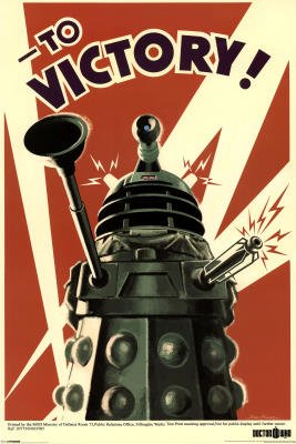 TV Maxi Poster 91.5x61cm On a Mission to Exterminate! Dalek to Victory Stunning Vintage Art from TV Series Doctor Who