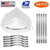 Aluminum Strips Nose Wire,Nose Bridge for Mask,90MM Metal Flat Nose Clips Nose Bridge Bracket DIY Wire for Sewing Crafts (100PCS) (Color: 100PCS)