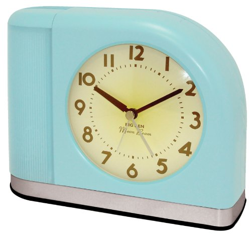 Westclox 1950 Big Ben Moonbeam Aqua Blue Alarm Clock