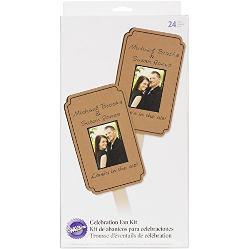 Wilton 120-1318 Kraft Fan Celebration Kit for Wedding, 24-Pack