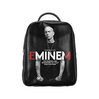 NBQLY Super Rap Star Eminem Unisex School High-grade PU Leather Backpack Bag Shoulder Bag