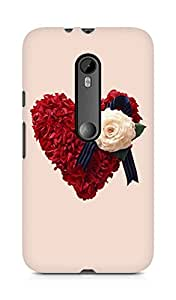 Amez designer printed 3d premium high quality back case cover for Motorola Moto G3 (Cute Heart)