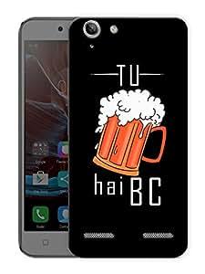 "Tu Beer Hai Bc - Quote Printed Designer Mobile Back Cover For ""Lenovo Vibe K5 - K5 Plus"" By Humor Gang (3D, Matte Finish, Premium Quality, Protective Snap On Slim Hard Phone Case, Multi Color)"