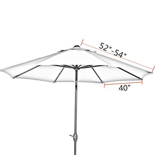 Patio Umbrella Replacement Parts: Abba Patio 9ft Vented Market Umbrella Replacement Canopy