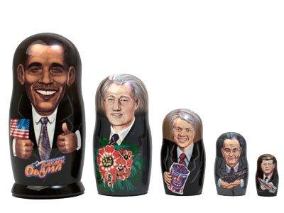 "Obama & Democratic Presidents Doll 5pc./5"""