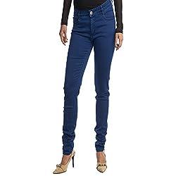 Facts Women's Denim Skinny Jeans(ft02-40_Blue_40)