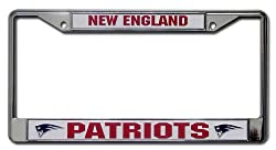Rico New England Patriots Chrome License Plate Frame