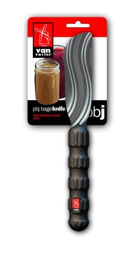 Van Vacter PBJ Bagel Knife, Black and Stainless Steel